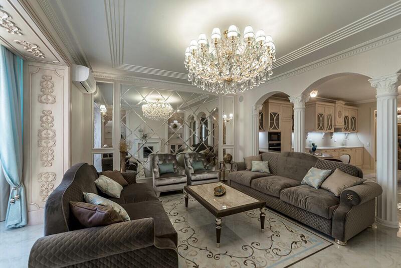 Эксклюзивный дизайн проект гостиной