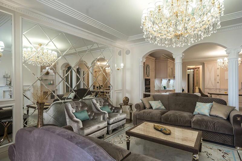 Элитные гостиные в классическом стиле, фото