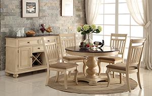 Изысканная деревянная мебель для оформления столовой