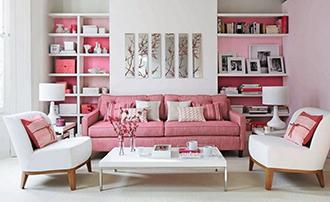 интерьер в розовом