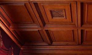Кессонные деревянные потолки – классическое решение для современного интерьера