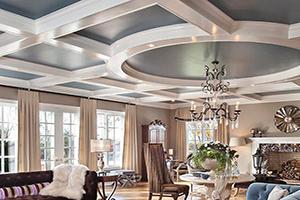 Деревянный кессонный потолок – классическое дизайнерское решение для дома или квартиры